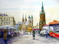 Anhalt, Halle, Stadt, Markt
