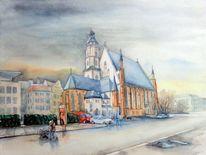 Platz, Leipzig, Kirche, Thomaskirche