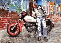 Graffiti, Figural, Realismus, Motorrad