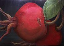 Früchte, 2017, Apfelrose, Rot