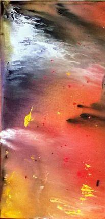 Zerlaufen, Acrylfarben, Farbverlauf, Fantasie