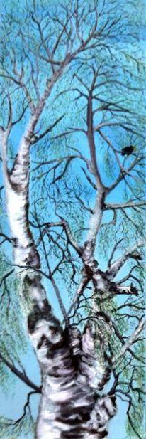 Brandenburg, Baum, Blau, Amsel