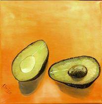 Früchte, Avocado, Gesund, Malerei