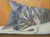 Tiermalerei, Tiere, Gelb, Tierportrait