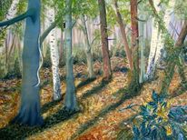Rinde, Kiefer, Frühling, Wald