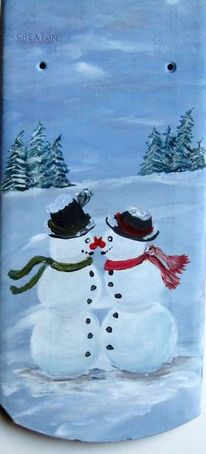 Weihnachten, Schneefrau, Tannenbaum, Winter