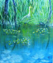 Gelb, Wasser, Blumen, Blüte