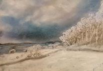 Schnee, Himmel, Winter, Winterlandschaft