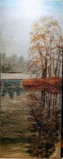 Himmel, Baum, Landschaft, See