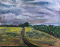 Wolken, Natur, Feld, Malerei