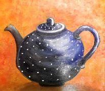 Tee, Kanne, Keramik, Malerei