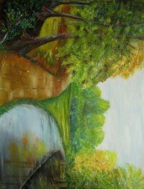 Wal, Baum, Gras, Fluss