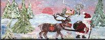 Tanne, Haus, Jahreszeiten, Schnee
