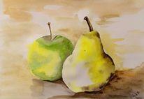Apfel, Obst, Birne, Früchte