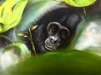 Affe, Bonobo, Malerei