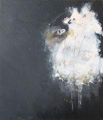 Nacht, Schwarz, Stern, Malerei