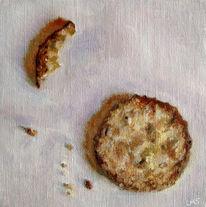 Stillleben, Ölmalerei, Lebensmittel, Keks