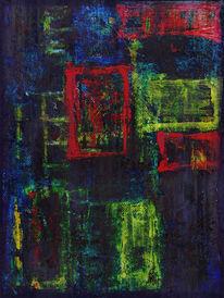 Dekoration, Rot, Blau, Abstrakt