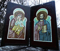 Madonna and child, Jesus of nazareth, Wooden icons, Lack