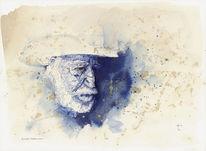 Blau, Tuschmalerei, Schauspieler, Zeichnungen