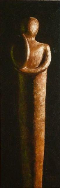 Braun, Figur, Dunkel, Statur