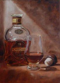 Genuss, Whisky, Korken, Glas