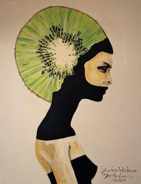 Kiwi, Frau, Malerei,