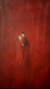 Menschen, Rot, Frau, Liebe
