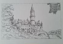 Zeichnung, Schloss, Zeichnungen