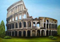 Colosseum, Ruine, Rom, Malerei