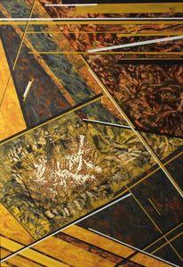 Balken, Kupfer, Linie, Malerei