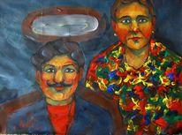Malerei, Doppelt, Portrait