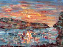 Malerei, Ewig, Sonnenuntergang