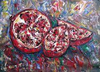 Malerei, Granatapfel