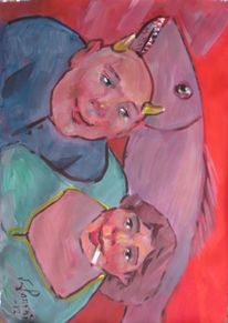 Malerei, Figural, Fisch, Traum