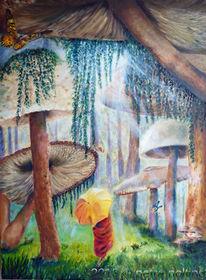 Pilze, Wald, Fantasie, Grün