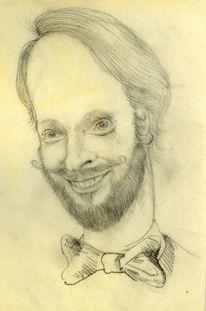 Arbeitszimmer, Mann, Zeichnung, Selbstportrait