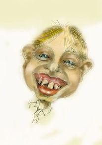 Digitale retouche, Portrait, Menschen, Zeichnung