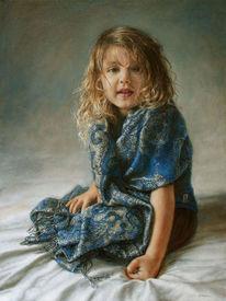 Mädchen, In auftrag, Portrait, Fotorealismus