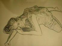 Portrait, Malerei, Ölmalerei, Bleistiftzeichnung
