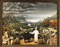 Stier, Ölmalerei, Malerei, Portrait