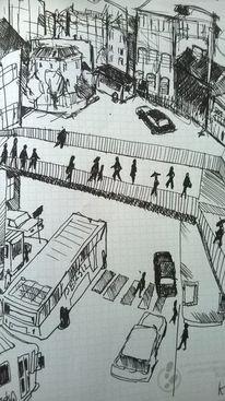 Stadt, Fantasie, Erlebnis, Illustrationen