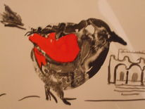 Vogel tusche, Zeichnungen, Vogel