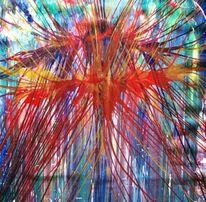 Vogel, Paradies, Abstrakt, Malerei