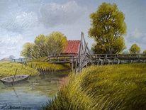 Boot, Wasser, Malerei, Meer