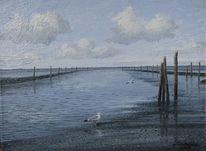 Möwe, Ostfriesland, Nordsee, Gemälde