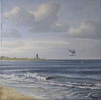 Welle, Turm, Norden, Möwe