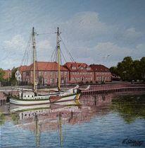 Schiff, Wasser, Wangerland, Hafen
