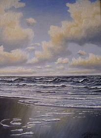 Strand, Gemälde, Sand, Meer