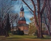 Schloss, Jever, Friesland, Malerei